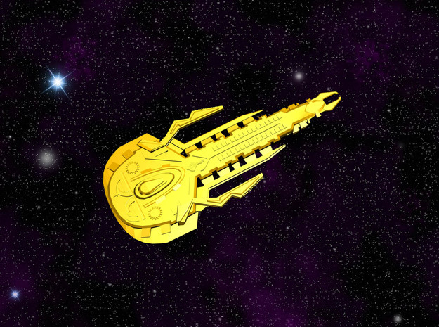 Cardassian Kellmion Class Destroyer in White Natural Versatile Plastic