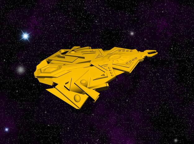 Cardassian TEROK Battleship in White Strong & Flexible