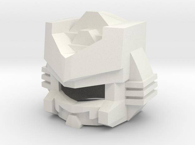 Robohelmet: Evil Sammy in White Natural Versatile Plastic