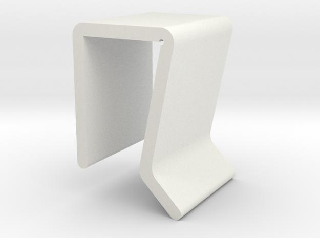 Block Camera M size in White Natural Versatile Plastic