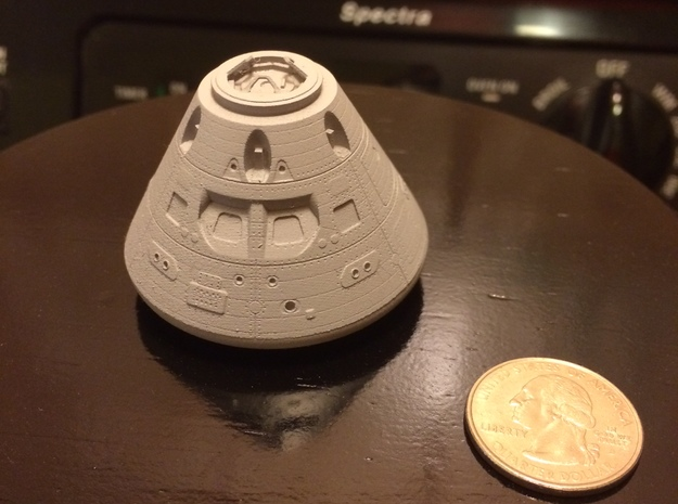 Orion Crew Module (CM) 1:96 in Smooth Fine Detail Plastic