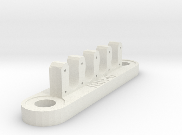 18RG Wire Bracket (7mm) in White Natural Versatile Plastic