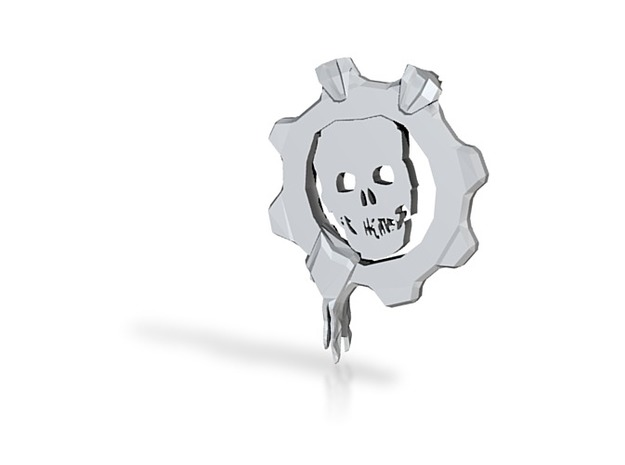 Gears Gear From Gears Of War in White Natural Versatile Plastic