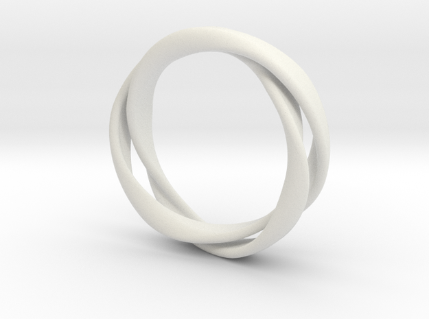 3-Twist Ring in White Strong & Flexible