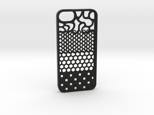 The Texture Case (Iphone 5S) in Black Strong & Flexible