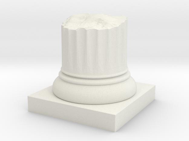 Pillar Broken Stump Original Lrg in White Natural Versatile Plastic