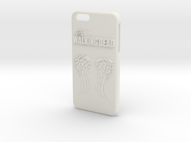 Walking Dead Iphone 6 Plus Case in White Natural Versatile Plastic