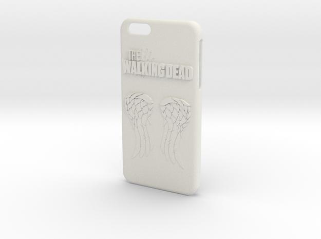 Walking Dead Iphone 6 Plus Case in White Strong & Flexible