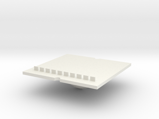 Tray part B version 002 ML in White Strong & Flexible