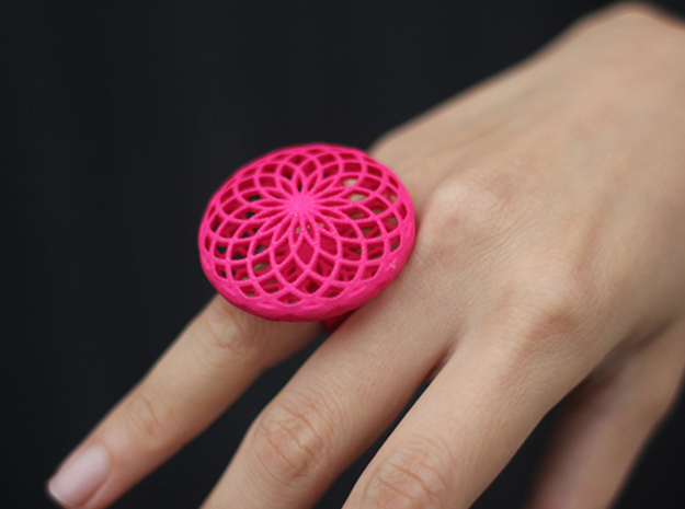 SACRED CIRCLE RING Small in Red Processed Versatile Plastic