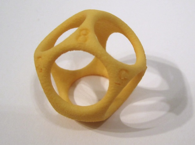 D8 Shell Dice - Gen 2 in Yellow Strong & Flexible Polished
