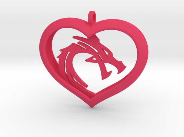 Dragon Heart 2 (No Cross) in Pink Strong & Flexible Polished