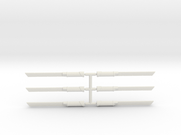 Assassins Blade Pack in White Natural Versatile Plastic