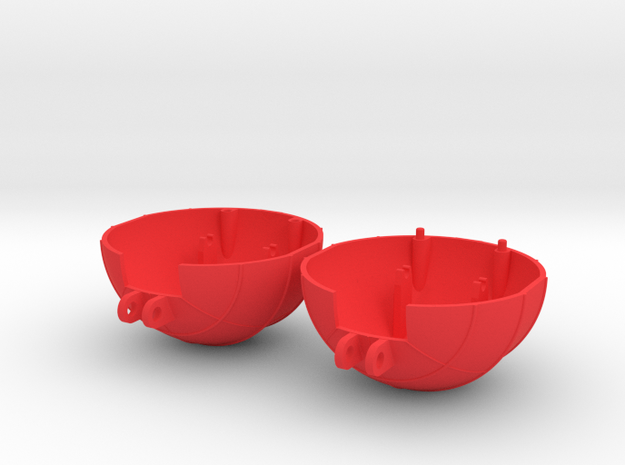 VENOM Thunderball both domes. (6 of 8) in Red Processed Versatile Plastic