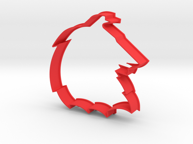 Collie - Cookie Cutter in Red Strong & Flexible Polished