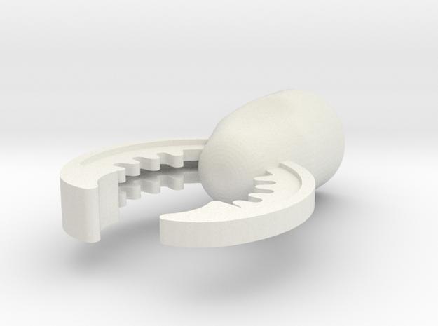 Claw in White Natural Versatile Plastic