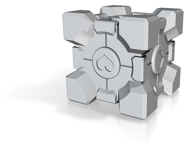 Weighted Companion Cube (Hollow) 3d printed