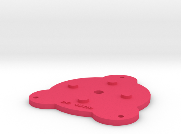Option 1. Pancake Coil Ends (Two required) Designe in Pink Processed Versatile Plastic