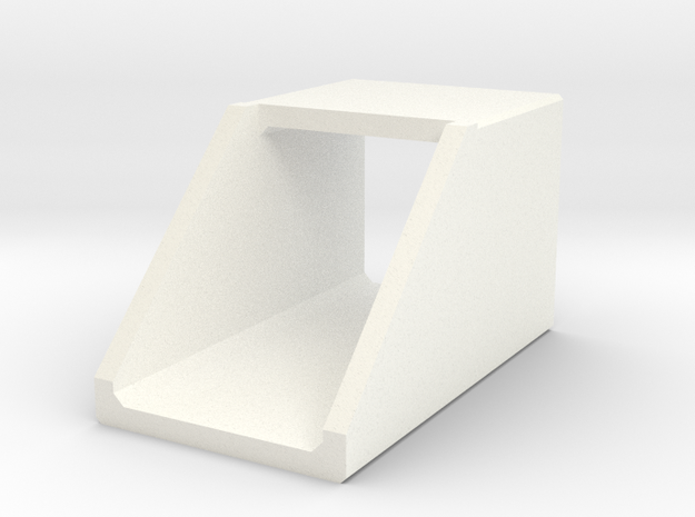 N/H0 Box Culvert Headwall (size 1) in White Processed Versatile Plastic