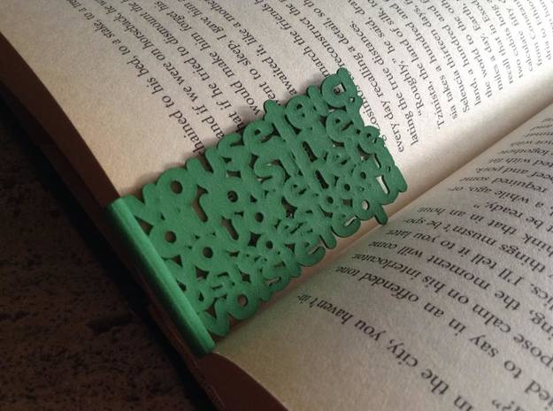 Youarehere bookmark (small) in Green Strong & Flexible Polished