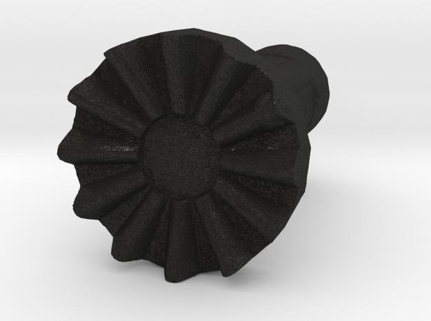 VW Rabbit GTI VDO Clock Adjustment Knob in Black Acrylic