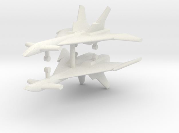 1/285 Mikoyan MiG-31 (Firefox) (x2) in White Natural Versatile Plastic