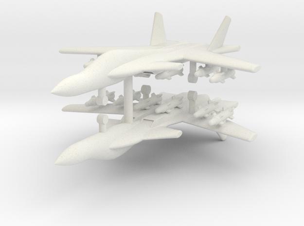 1/285 Su-47 Berkut (x2) in White Natural Versatile Plastic
