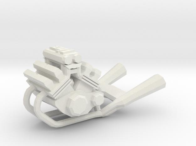 Yamaha Vmax engine keychain in White Natural Versatile Plastic