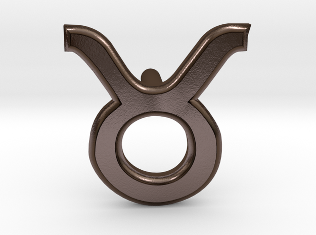 Taurus Earring in Polished Bronze Steel