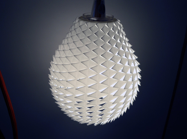 Pineapple Lamp in White Natural Versatile Plastic