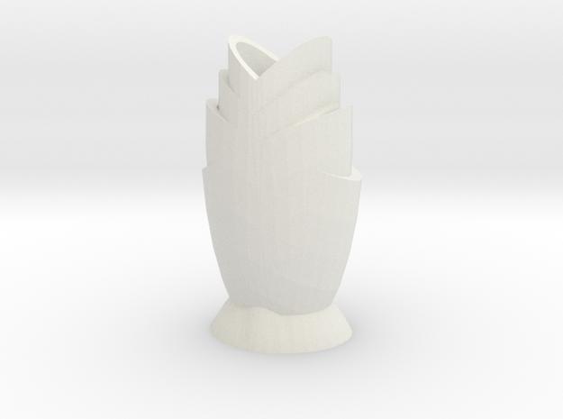 Tulip Vase in White Natural Versatile Plastic