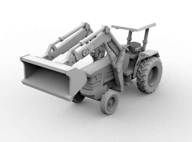 Mahindra Front End Loader(HO/1:87 Scale) 3d printed