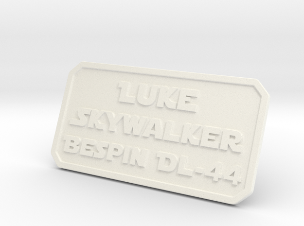 Luke ESB Plate in White Processed Versatile Plastic