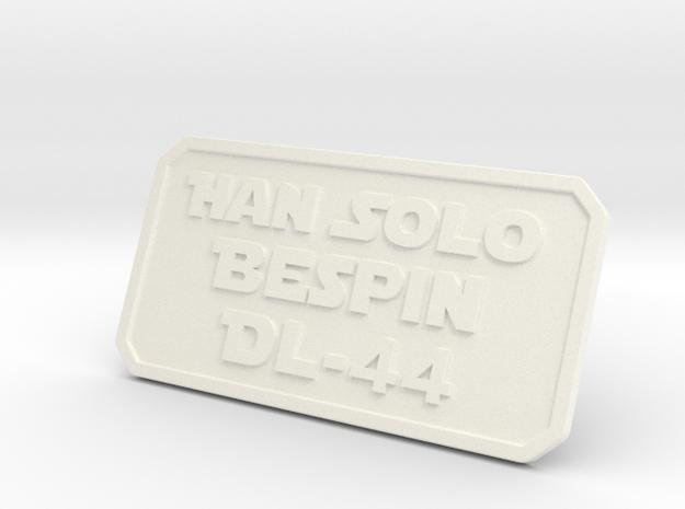 Han ESB Plate in White Processed Versatile Plastic