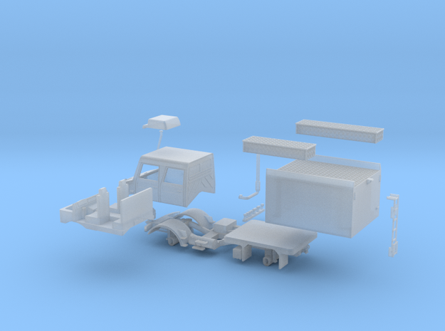 Mobiler Löschtrupp 2 in Smooth Fine Detail Plastic