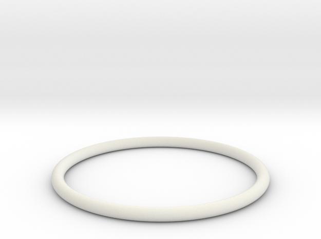Bracelet X Large in White Natural Versatile Plastic