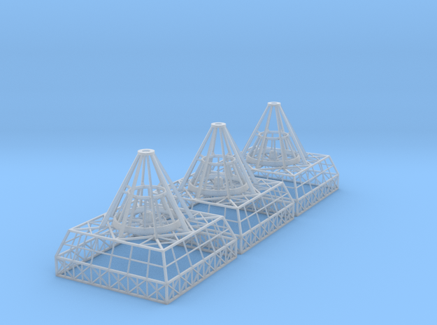 Antenna Bases X 3 V0.1 in Frosted Ultra Detail