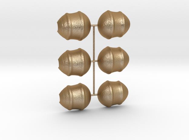 3 Parts Model in Matte Gold Steel