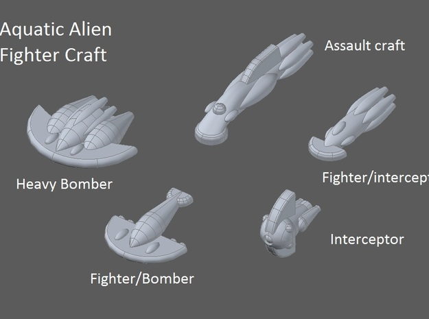 6 Aquatic heavy bombers 3d printed faction preview