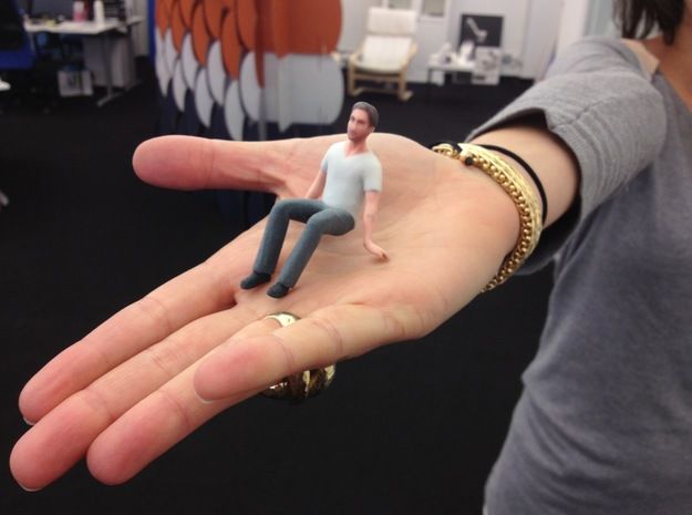 Hey Girl, I'm 3D Printed Ryan Gosling in Full Color Sandstone