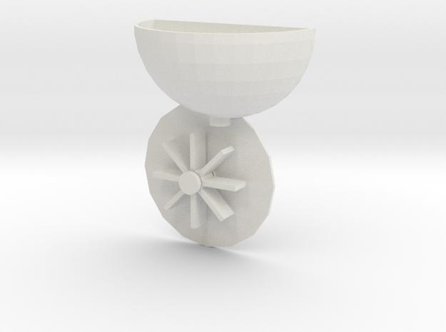 Jan20 2015 Bath Waterwheel 2015 20 01 2316 in White Natural Versatile Plastic