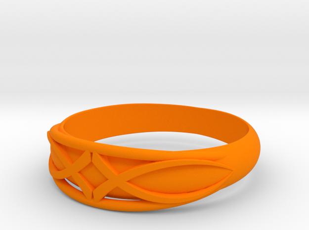 Size 6 L Ring  in Orange Processed Versatile Plastic
