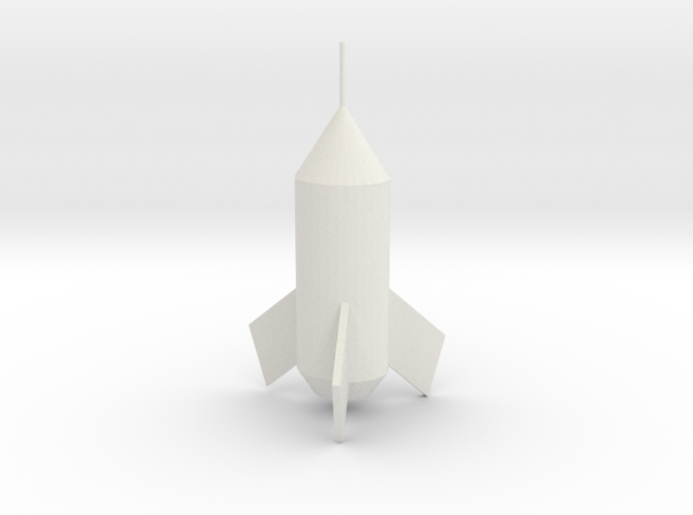 Rocket in White Natural Versatile Plastic