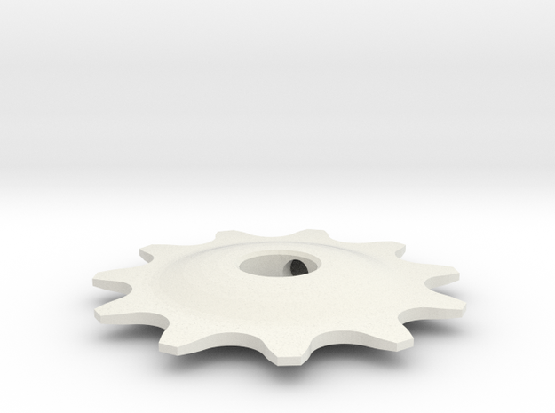 Pulley 11t for RD, hollow (lower pulley) in White Strong & Flexible