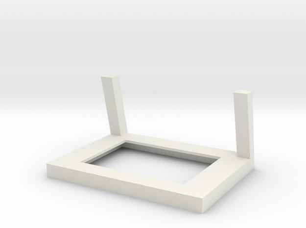 Frame for Shapeways Full Color Photoshaper in White Natural Versatile Plastic