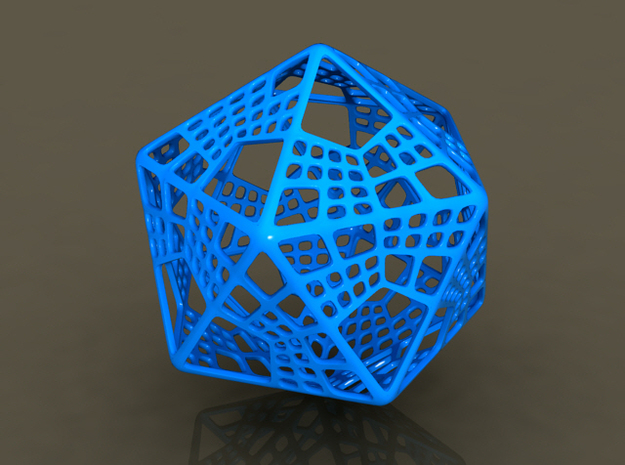 Like Fractal Subdivided Icosahedron in White Natural Versatile Plastic