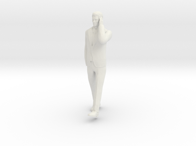 Man Walking 6cm in White Natural Versatile Plastic
