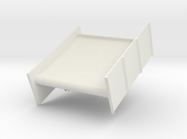Rear Wing in White Natural Versatile Plastic