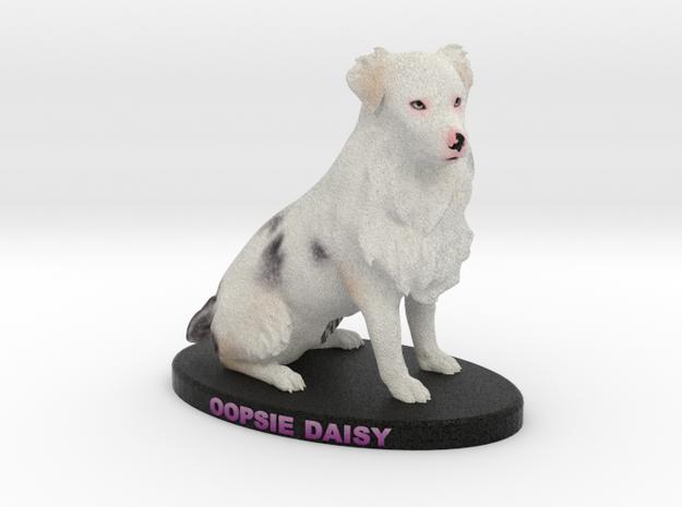 Custom Dog Figurine - Oopsie Daisy in Full Color Sandstone