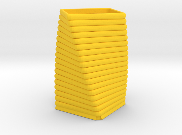 Candle Vase in Yellow Processed Versatile Plastic
